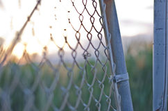 Sunset Fence Royalty Free Stock Images