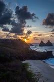 Sunset of Fernando de Noronha Royalty Free Stock Photo