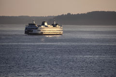 Sunset Ferry Royalty Free Stock Photography