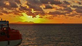 Sunset from ferryboat royalty free stock photos