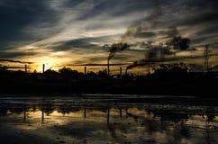 Sunset. On field Stock Photo