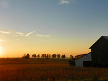 Sunset in the Finger Lakes region of New York State Stock Photography
