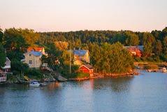 Sunset in Finland near Turku Stock Image