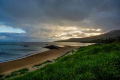 Sunset at Fintra Beach near Donegal in Ireland Stock Images