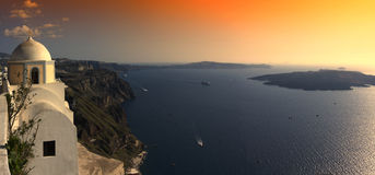 Sunset at Fira Royalty Free Stock Image