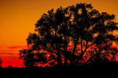 Sunset Fire royalty free stock photography