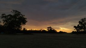 Sunset. Fire in the sky Australia echuca Stock Photos