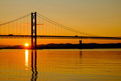 Sunset at the Firth of Forth Royalty Free Stock Photo