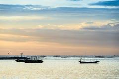 Sunset at fisherman village, Thailand Stock Photography