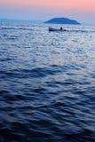 Sunset fishing Royalty Free Stock Photos