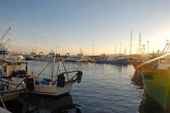 Sunset at the fishing port of Palamos, Girona, Stock Photos