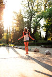 Sunset Fitness Stock Photography
