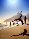 Sunset Flip Silhouette Rio de Janeiro Brazil Royalty Free Stock Photography