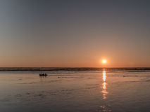 Sunset at Flood Tide Royalty Free Stock Photography