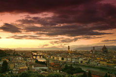 Sunset in Florence Stock Image
