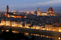 After sunset. Florence. Italy. Colorful image of Florence shortly after sunset Royalty Free Stock Images