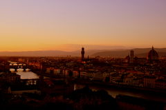 Sunset in Florence, Italy Royalty Free Stock Photo