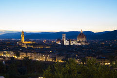 Sunset in Florence. From piazza Michelangelo Royalty Free Stock Images