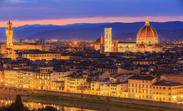 Sunset at Florence, Toscana, Italy Royalty Free Stock Images