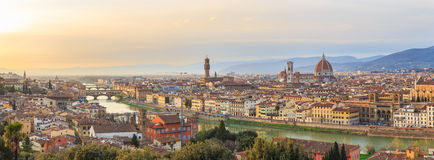 Sunset at Florence, Toscana, Italy Stock Images