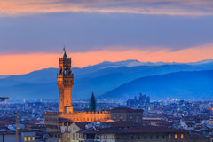 Sunset at Florence, Toscana, Italy Stock Image
