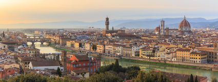 Sunset at Florence, Toscana, Italy Royalty Free Stock Photography