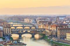 Sunset at Florence, Toscana, Italy Stock Photos