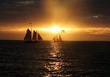 Sunset. Florida key west Stock Images