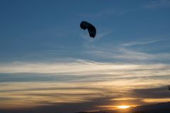 Sunset:. Fly freely during a beautiful sunset with the sun as a witness Royalty Free Stock Photography
