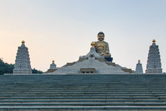 Sunset at Fo Guang Shan buddist temple of Kaohsiung, Taiwan. Royalty Free Stock Photos