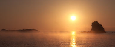 Sunset fog Royalty Free Stock Photos