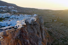 Sunset in Folegandros Stock Photo