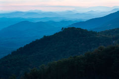 Sunset Foothills Parkway Smoky Mountains National Park Tennessee Royalty Free Stock Photos