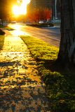 Sunset and footpath Royalty Free Stock Photography
