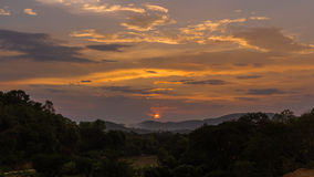 Sunset. In forest country at north Thailand Stock Photos