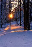 Winter mountains landscape. Scenic view of sunset. stock image