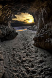 Sunset form inside cave Royalty Free Stock Photography