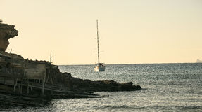Sunset in formentera beach Royalty Free Stock Images