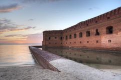 Sunset at Fort Jefferson Royalty Free Stock Photography
