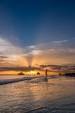 Sunset on Fort Myers Beach Royalty Free Stock Photography