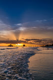 Sunset on Fort Myers Beach Stock Photos