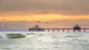 Sunset on Fort Myers Beach Stock Photo