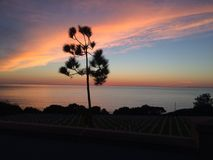 Sunset- Fort Rosecrans National Cemetery Royalty Free Stock Image