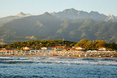 Sunset on forte dei marmi Royalty Free Stock Images