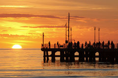 Sunset in forte dei marmi Royalty Free Stock Photography