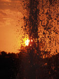 Sunset fountain Stock Photo