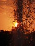 Sunset fountain Stock Photo