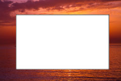 Sunset frame Stock Images