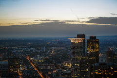 Sunset in Frankfurt Stock Images