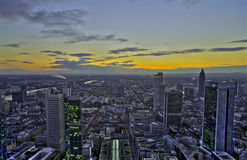 Sunset in Frankfurt, HDR Royalty Free Stock Photography